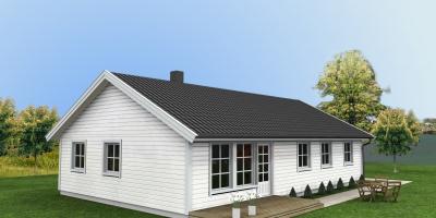 Storelvmo - Hus på 1 plan, 4 soverom og eget vaskerom