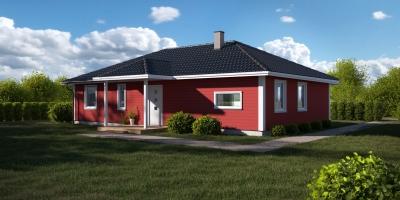 Øvermo - Hus på 1 plan, 4 soverom og eget vaskerom