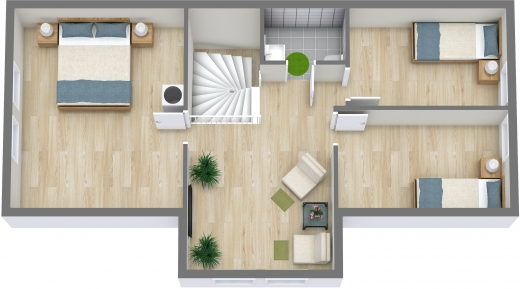 Plantegning - 2. etasje - 3D