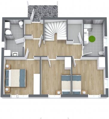 Plantegning - 1. etasje - 3D